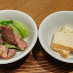随園別館 - 隋園別館 @京橋店 ランチ 麻婆豆腐セットに付く焼豚・胡瓜と厚揚げ