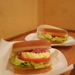 ドトールコーヒーショップ - モーニングのサンドイッチ