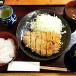 とんかつ武蔵野 - 肥後遊び豚ロース定食 1,800円(税込)