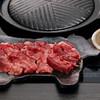 焼肉スタイル!上たん使用。牛タンの鉄板焼き