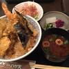 銀座ハゲ天 - 料理写真:大えび天丼1400円 (卵→野菜に変更)