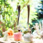 タブレス - フォークケーキ ストロベリー/バニラ