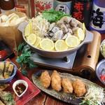 闇市倶楽部 - 2016冬 牡蠣と鴨肉団子のレモン鍋