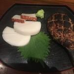 山せみ - 蕎麦前セットは板わさと焼き味噌