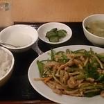 57961501 - 細肉切りとピーマン炒め定食 780円