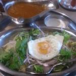 インド定食ターリー屋 - 料理写真:・パクチーライスキーマ定食 990円