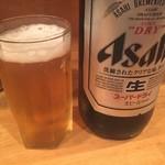 酒処 つがる - 瓶ビール(大瓶)