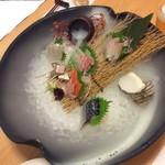 四季や - 刺身六種 超大皿盛り(三人前)