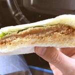 古賀サービスエリア(下り線) ショッピングコーナー - 料理写真:朝食はハムカツサンド^_^