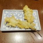和食処 天きん - 夜のメゴチの天ぷら580円