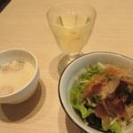 57974734 - ドリンク・スープ・サラダのセット150円(ただしパスタ注文の場合のみ)