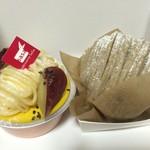 ササ - 料理写真:おいもとかぼちゃのプリンと和栗のモンブラン