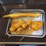串かつ えいちゃん - にんにく、アスパラガス、蓮根、帆立貝
