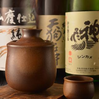 王道からレアな銘柄までこだわりの日本酒