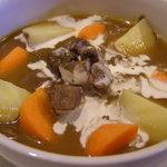 MANDA - ビールを使ったお料理もいろいろあります。写真は、ベルギーの料理をイメージした、牛肉の柔らかビール煮。