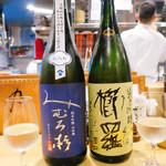 すぎ乃 麻布十番 - 奈良「篠峰 櫛羅」純米吟醸                                 奈良「みむろ杉」純米吟醸