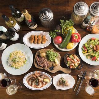 ★肉盛りコース★お肉3種盛り含む6品/2h飲放付5,000円