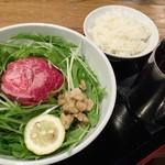 松阪牛麺 - 料理写真:平成28年9月14日松阪牛麺1,050円税込ごはん190円税込。