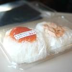 おむすび結庵 - おにぎりは1個ずつラップで個包装。海苔も別包装。