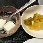 好味苑 - 好味苑 @本蓮沼 ライスセット 税込200円に付く搾菜と杏仁豆腐