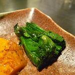 ステーキ  いぐち - ☆ほうれん草は温かくて美味しいですね(^^♪☆