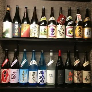 焼酎90種類日本酒30種のドリンクの品揃え!