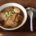 満月 - ワンタンメン(小)&煮玉子