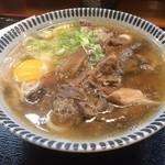 古都うどん店 - 牛すじうどん+玉子  おいしく頂きました(*´ч`*)