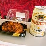 スーパーとびしま - 料理写真:イカメンチにはビールが合う