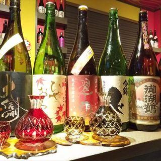 日本酒、梅酒が多数