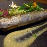 58000228 - 秋刀魚のマリネと里芋の燻製