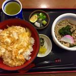 そば処 橋本 - 玉子丼と小そばのセット   920円