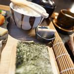 かまだ茶寮 円山 - 酢飯、海苔、碗