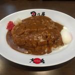 Hinoyakare - 手仕込み名物カツカレー 温泉卵トッピング