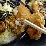 どんや - 鶏唐揚げ丼(並)390円