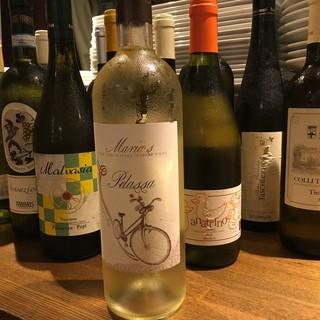 イタリアのオーガニックワインなど豊富なドリンク