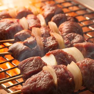 まずはコレ!【人気NO.1】天然エゾ鹿肉ステーキ串!
