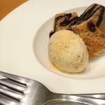 鮨 とも成 - デザート(きな粉のアイスクリーム、コーヒーのシフォン)
