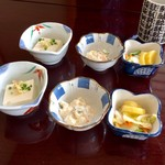 鮨岡 - H28.10.28 小鉢3種