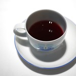 レストラン 代官山小川軒 - 口直しのワインゼリー(一見、コーヒーに見えますが)