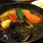 天竺 - 知床産ポーク角煮のスープカレー