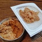 味の明太子 ふくや - 「めんツナかんかん プレミアム (400円)」、家でご飯の上に乗せて食べる、美味しい~♪