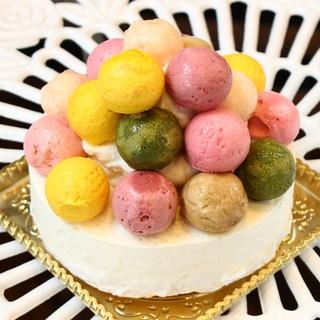 季節のジェラートのケーキ