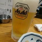 もつ焼き 栄司 - 生ビール