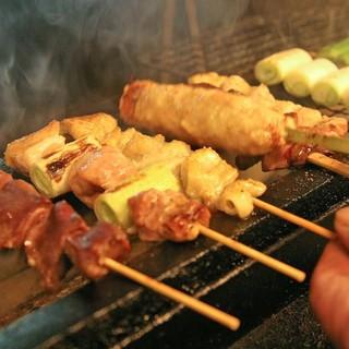 埼玉県産『タマシャモ』の串焼き