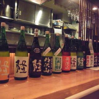 こだわりの日本酒を各地からご用意