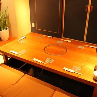 4名様からご利用可能な完全個室