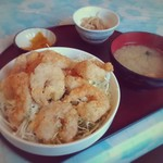 てんぺい - エビ唐丼 パート2(一味と山椒)