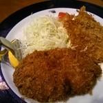 洋食工房 ジェンコ - メンチカツとサーモンフライ