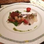 竹田屋 - おすすめフィレステーキコース   前菜orスープで、前菜をチョイス。見た目も美しい!